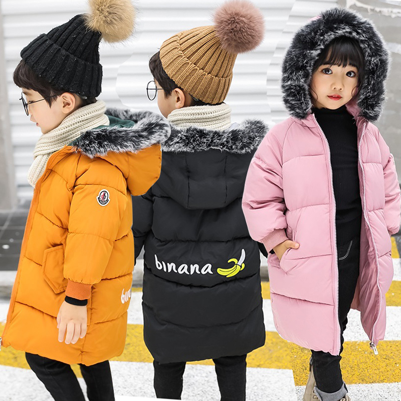Baby Girls Coats Boys Winter Jackets Children Warm Coat Kids Clothes Snowsuit Outerwear & Coats Fur Hooded Jacket Infant Parkas