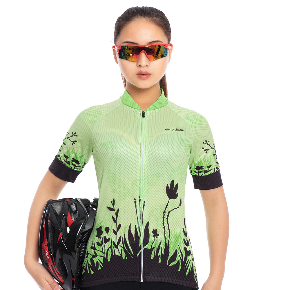 2018 New Firty snow women Cycling clothing cycling short sleeve summer Cycling Jersey woman gel pad BiB shorts kit