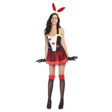 цены Halloween costume Christmas cosplay costume  costume pub party sexy bunny costume bunny girl make up dress headband+dress+gloves