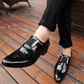Man Black Oxfords Men Wedding Shoes 2016 PU Leather EU 38-43 Pointed Toe Male Smooth Face Flats Business Men Dress Shoes