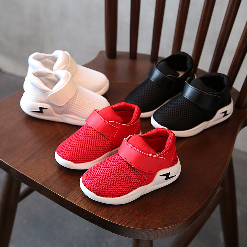 2020 New Fashion Boys And Girls Leisure Mesh Magic Stick Board Shoes Children's Casual Shoes Kids Fashion Sneakers