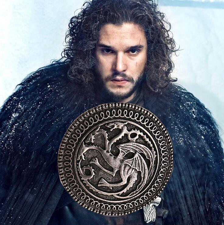 2016 Game of Thrones Brooch song of ice and fire vintage targaryen dragon Pin brooch Unisex wholesale image