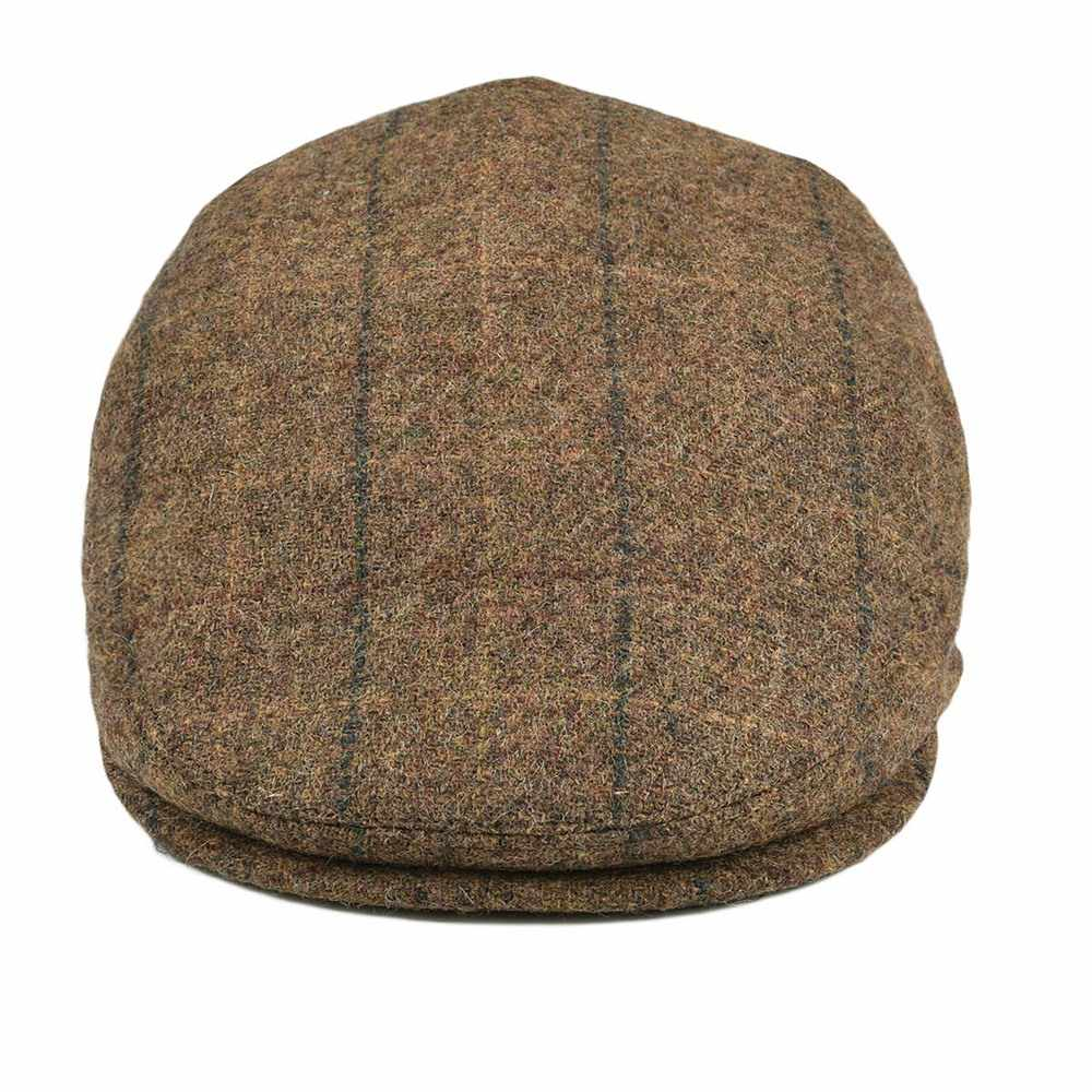 7c8c150a9 BOTVELA Wool Tweed Newsboy Flat Cap Men Women Large Check Beret Ivy Hat  with Soft Lining Cabbie Driver Caps 002