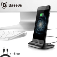 Baseus Desktop Docking Charger For iPhone Data Sync Charging Desktop Holder Stand For iPhone 5 SE 6 7 Plus Charging Dock Station
