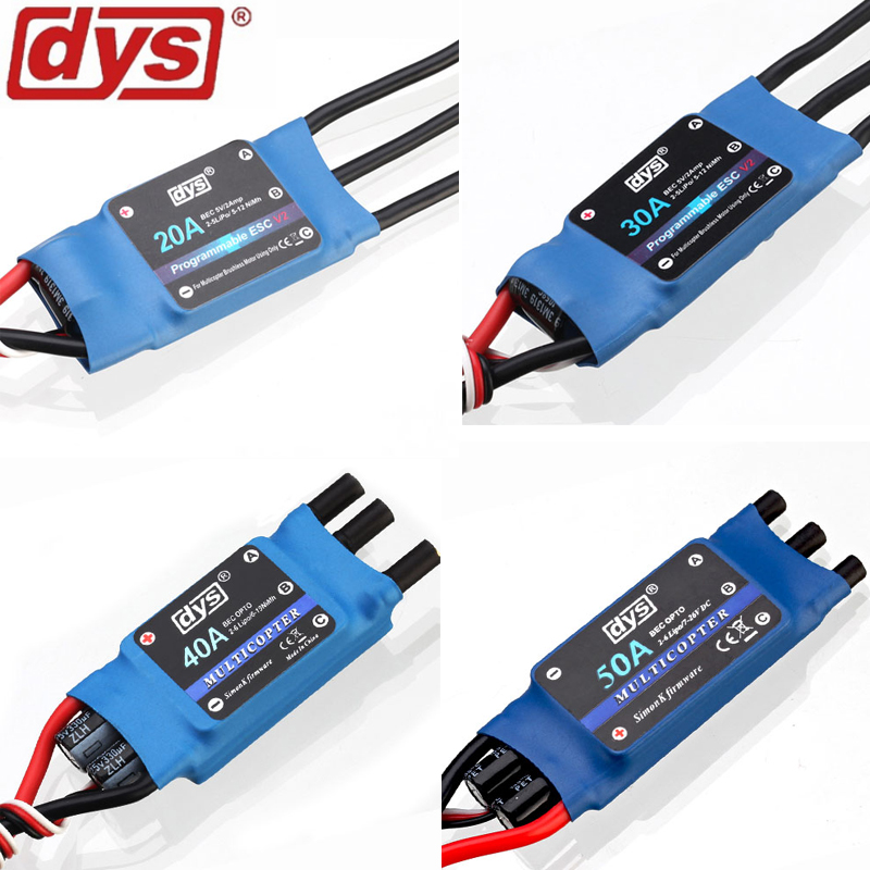 4pcs/lot Original DYS 10A / 20A / 30A / 40A 2-6S Speed Controller (Simonk Firmware) ESC for X-copter Quadcopter Multicopter simonk 30a 40a 2 4s brushless esc speed control for multicopter