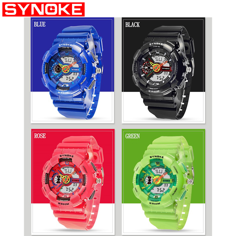 SYNOKE Boys Watches Sport Watch Kids Digital Watch Boys Multi-Function LED Digital Waterproof Watches For Kids Children Gifts