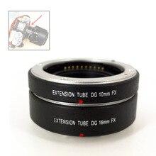 Tubo eletrônico do anel de extensão macro do foco automático de af 10mm + 16mm para fujifilm xt4 xt3 xt20 xt10 xe1 xe2 xa10 xa3 como MCEX 11 MCEX 16