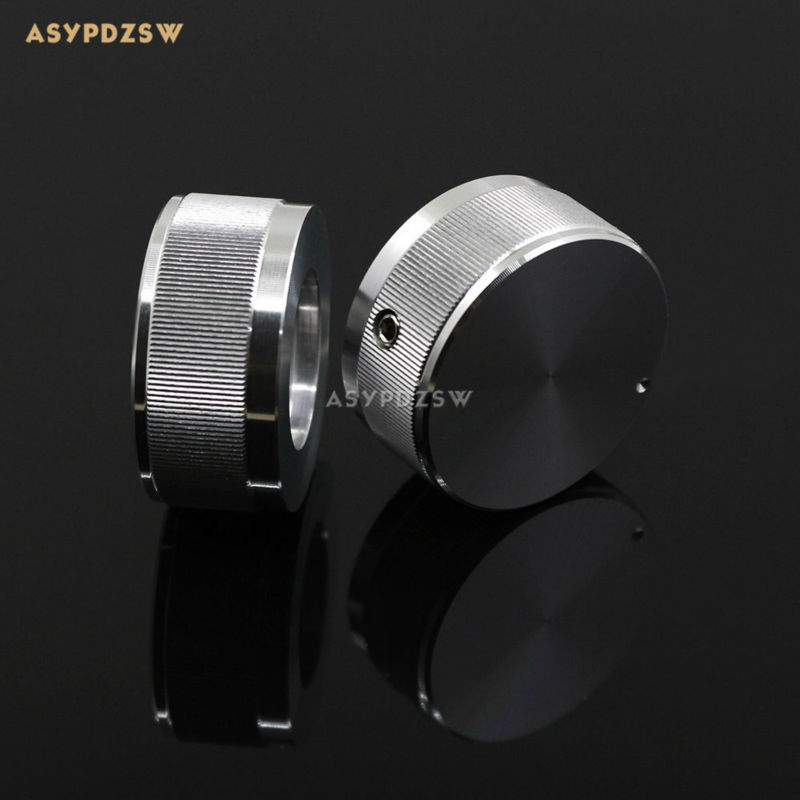 10 PCS 35*16 stripe full Aluminum Volume knob amplifier knob High-gloss silver цена