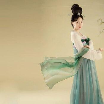 High quality Oriental Theme Topic women Antique Photo dress Hanfu Ruqun suits high waist chest-length China Japan Hanfu Dress