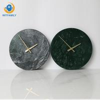 Nordic Art Clocks Personality Creative Living Room Fashion Wall Watch Marble Wall Clock Modern Minimalist Bedroom