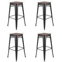 Шт. 4 шт. удобные промышленные бар Универсальный стул сиденье завтрак кухня бистро кафе классический мебель для дома