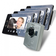 1V4 7 Inch TFT Digital Color Hands-free LCD Monitor 1/3 CMOS Night Vision Camera Video Door Phone