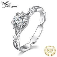 JewelryPalace Vintage 1ct Cubic Zirconia Wedding Promise Wedding Engagement Solitaire Ring 925 Sterling Silver 2018 Hot Selling цены