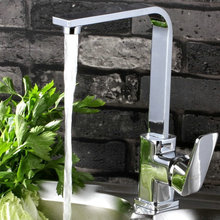 Современный одинарная ручка нет бросился верхний модный Torneiras Torneira кухня Faucets сует кран хром н01 вращения