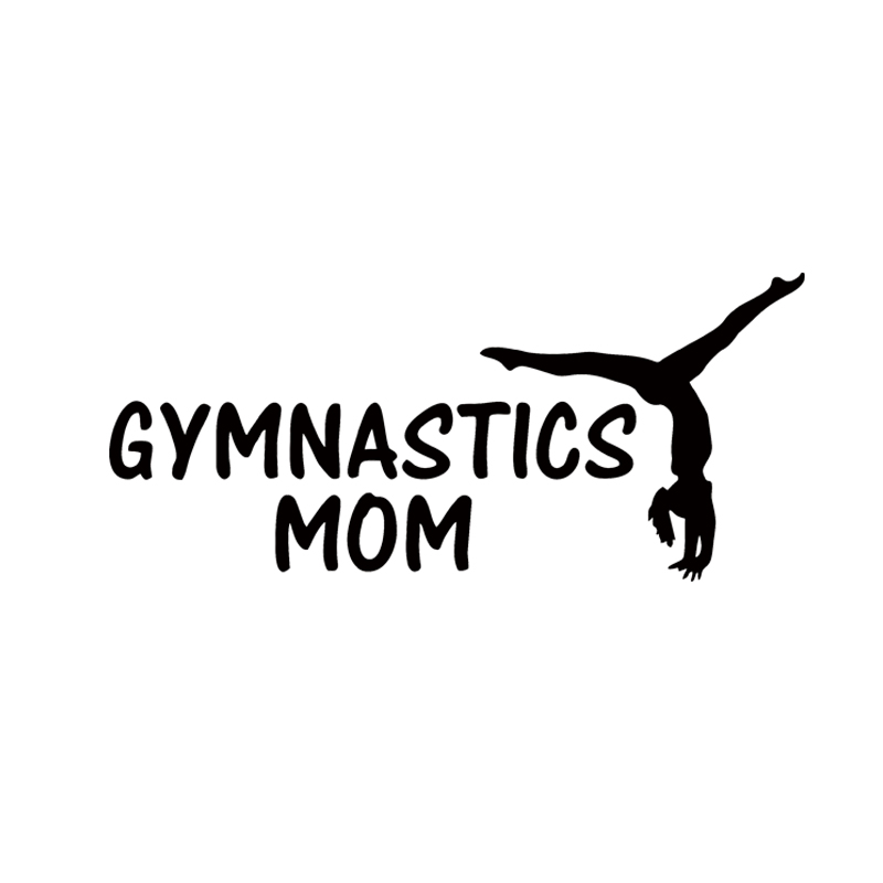 Горячая Распродажа гимнастики для мамы забавные виниловые наклейки в виде Фотообоев c переводными картинками наклейки автомобильное окно ...