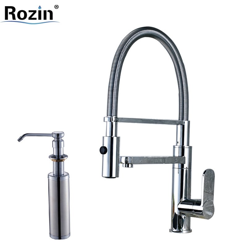 Expensive Kitchen Faucets: Luxury Kitchen Faucet Chrome Single Handle Brass Dual