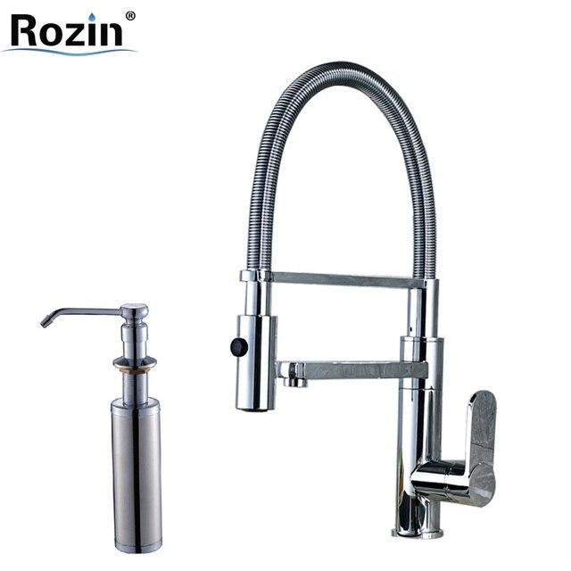 Luxury Kitchen Faucet Chrome Single Handle Br Dual Spout Bathroom Water Tap With Bracket