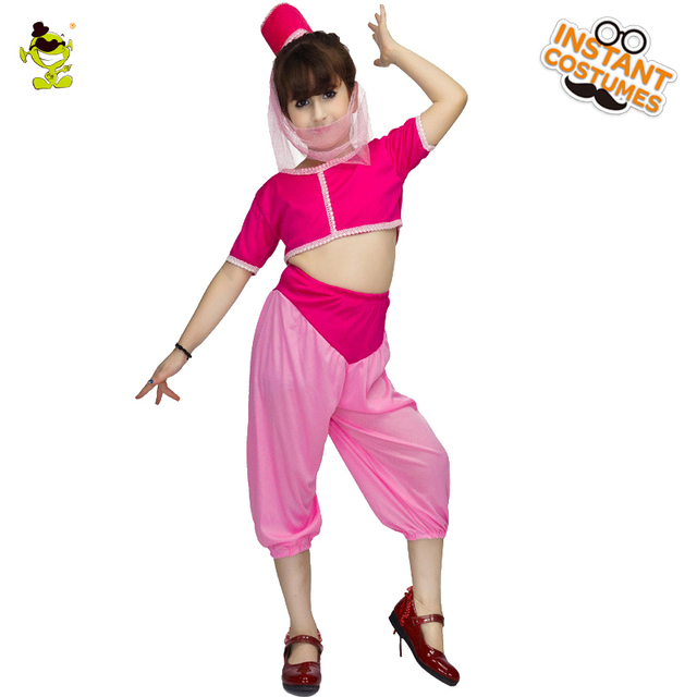 c77566475 New Girls 1960's Pretty Jeannie Costumes Girls Fancy Dress for Children  Halloween Party Role Play Dream Pretty Jeannie Dress