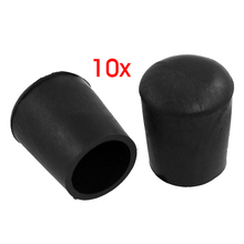 HGHO 10 Pcs Furniture Chair Table Leg 18mm Rubber Foot Covers Protectors Cases