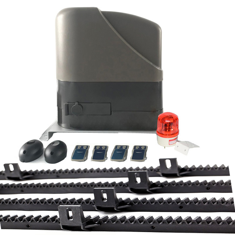 Gate Automation System 12VDC Heavy Duty Sliding Gate Motor Opener Engine Kit 4m/5m Nylon Racks Gsm Unit Blinker Button Optional