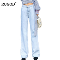 RUGOD 2018 New Basic Classic Elastic Jeans Women Casual Slim Elegant Long Pants Women High Waist