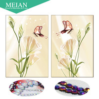 Meian 3D DIY Diamond Embroidery 5D Diamond Painting Diamond Mosaic Flower Needlework Crafts Christmas Decor