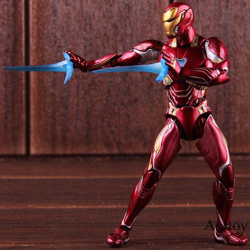 SHF Marvel Avengers Infinity War Action Figure Iron Man MK 50 Mark XLX PVC Collectible Model Toy