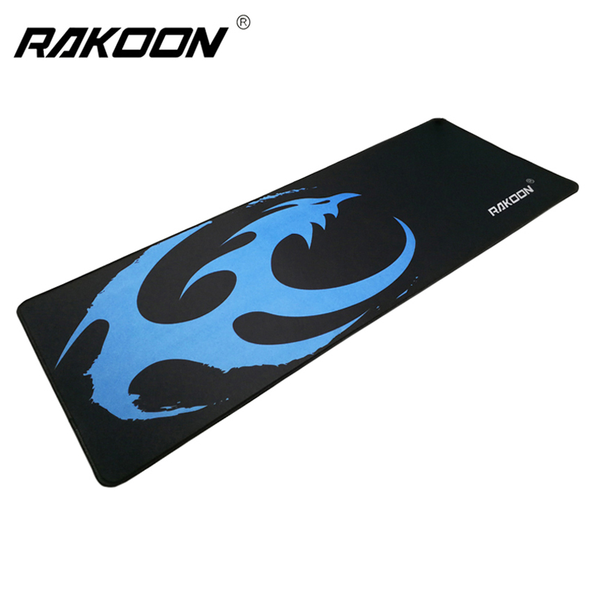 Rakoon Blue Gaming Mouse Pad 30x80cm Large PC Desktop Laptop Notbook Computer Keyboard Mouse Mat Gaming Mousepad for Dota LOL