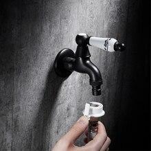 Bibcock Faucet Outdoor Wall Mount Brass Bibcock Decorative Outdoor Garden Faucet Washing Machine Water Tap Basin Small Taps