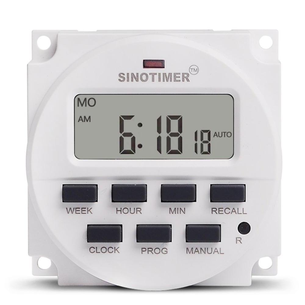 Generous Sinotimer Ac 220v Weekly 7 Days Programmable Digital Time Switch Relay Timer Control Din Rail Mount For Electric Appliance Regular Tea Drinking Improves Your Health Measurement & Analysis Instruments