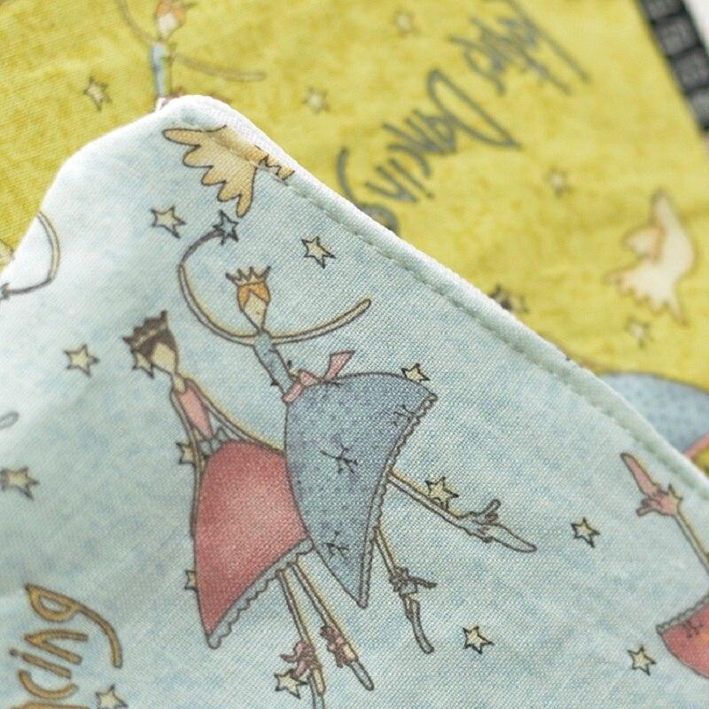 4 шт./лот мультфильм печати хлопок женские сумки монет небольшое изменение Кошельки Мини сумки бумаги Организатор сумки для девочек
