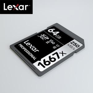 Image 3 - Originele Lexar 1667x tot 250 MB/s Flash Memory sd kaart 64GB 128GB V60 UHS II U3 Kaart hoge speed 256GB SDXC Voor 3D 4K HD video