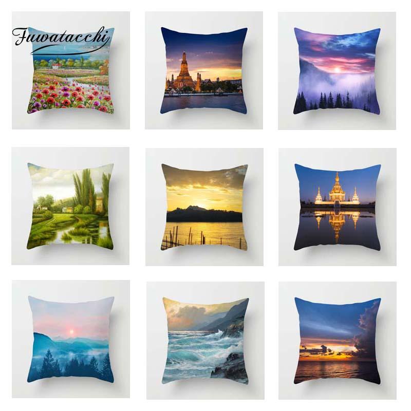 Fuwatacchi Romantic Scenic Cushion Cover Fireworks Soft Throw Pillow Cover Decorative Sofa Pillow Case Pillowcase