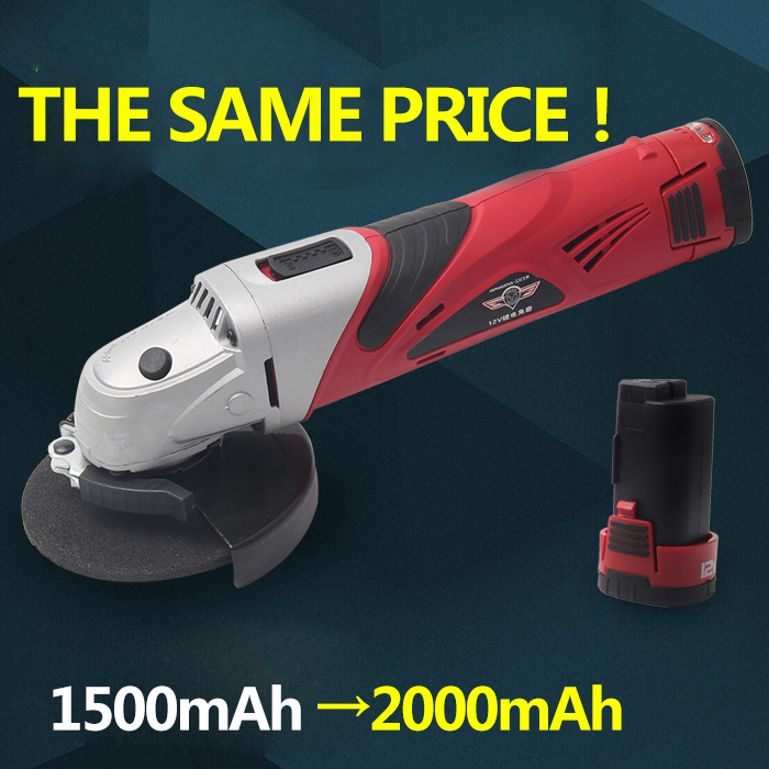 Image 3 - Hephaestus Angle Grinder with 12V Lithium Battery Angular Power Tool Grinding Metal Wood cordless Cutting and grinding Machine-in Grinders from Tools on