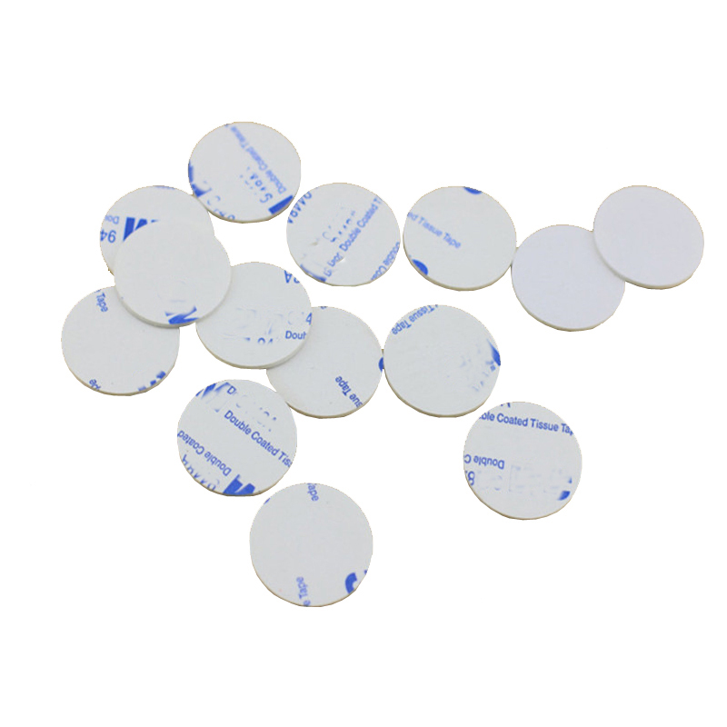 10pcs Round Car Double-sided Tape Movable Seamless Sticker