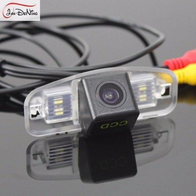 JanDeNing HD CCD Car Rear View Backup Reverse Camera/License Plate Light  OEM For Honda