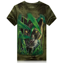 2016 New Leisure Youth Men's T-shirt Summer Animal Lion Tiger Wolf 3d T Shirt men Tees Short Sleeved T-shirts o-neck  wholesale