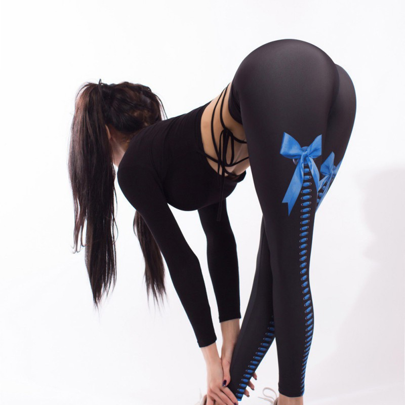 Women Pants & Quality Sexy Bowknot Leggings Printed Bodybuilding Pants Casual Pencil Pants Sweatpants Capris Joggers High