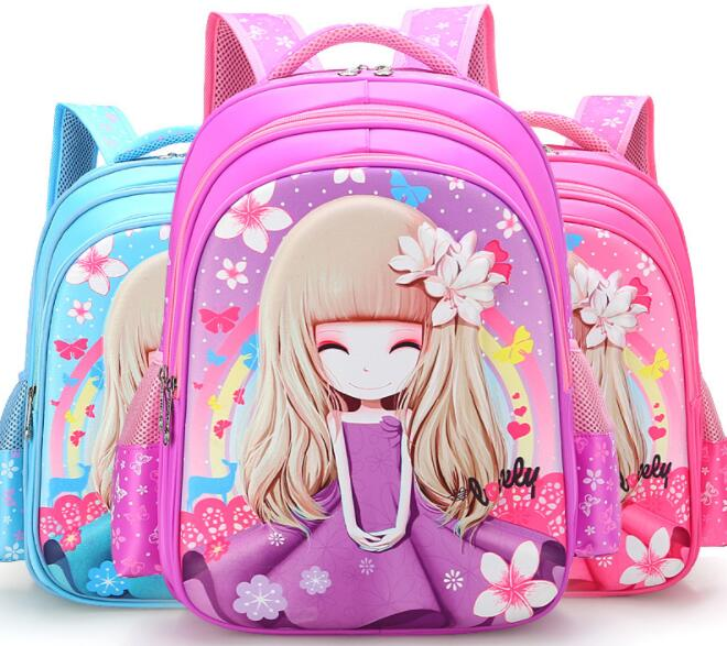 2018 Children School Bags Girls princess Backpack Primary School Backpacks kids Orthopedic backpack schoolbags Mochila Infantil children school bags orthopedic backpack schoolbags kids children travel backpack school backpack boys girls casual rucksack