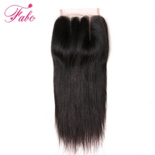 Fabc Hair Brazilian Straight Lace Closure 4×4 3 Part 10-20 inch 100% Remy Human Hair Swiss Lace natural color with Free Shipping