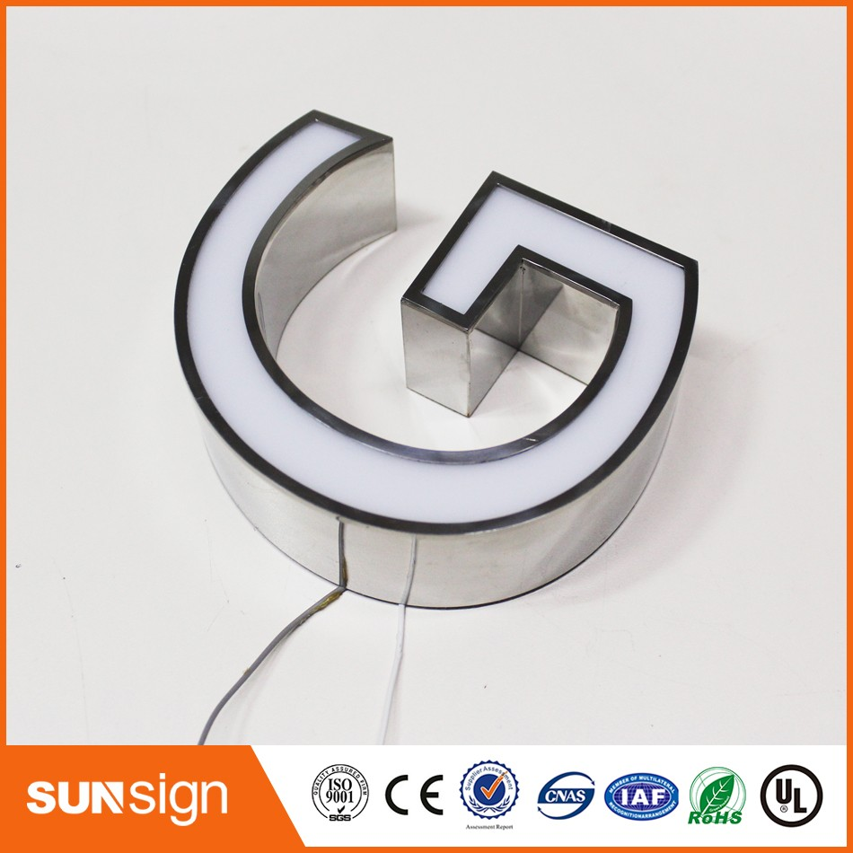 Advertising LED Illuminated Signs Custom Channel Letters Sign