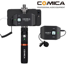 Comica CVM-WS50 UHF 6-Channel wireless Lavalier Microphone system for smartphone  X 8 7 7plus 6 6s Huawei Samsung IOS Android