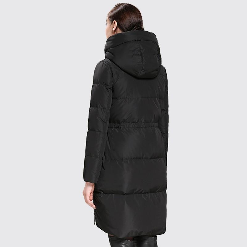 Arbitmatch Duck Down Coats Women Fashion Warm Winter Jacket Female Medium Length Down Parka Hooded Ladies Thickening Outwear