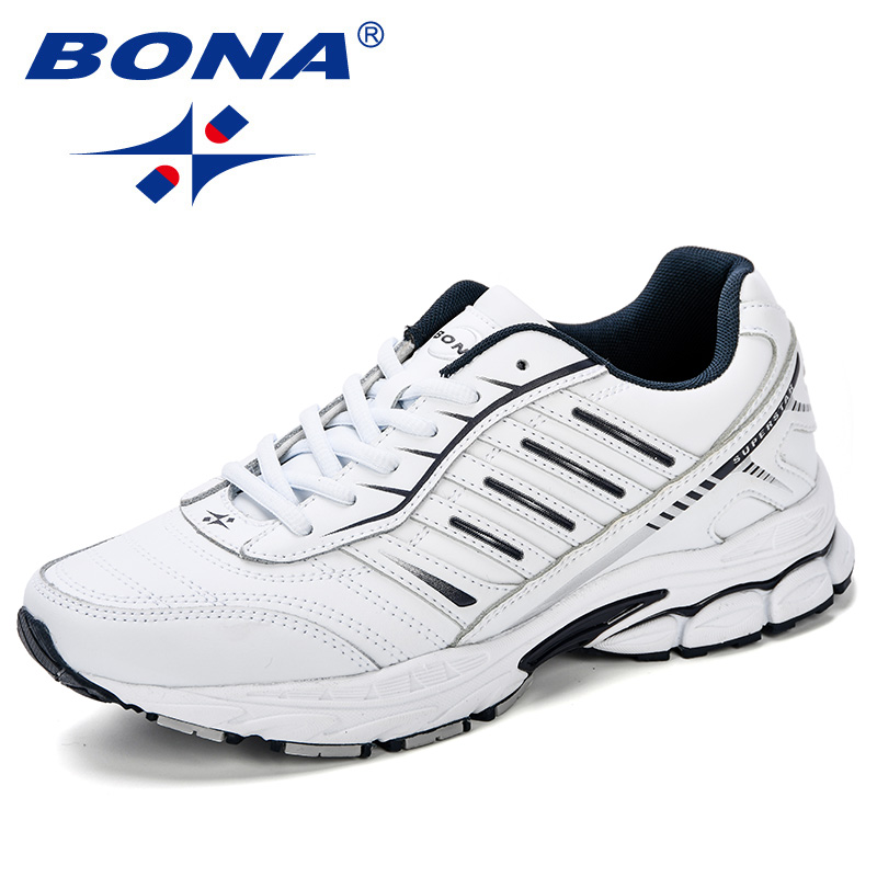 BONA Running Shoes Men's Sneakers Leather Microfiber Sports Shoes For Male Comfortable Designer Outdoor Male Adult Athletic Shoe