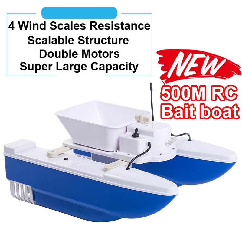 New arrival Wireless 500m RC Distance Speedboat Fish Finder Lure Ship Boat Fishing feeding hook Fishing Bait Boat