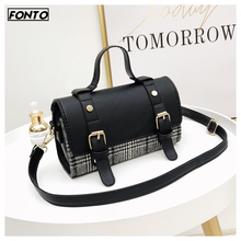 Hot Fashion Bag for Women Female Plaid PU Personality Wild Shopping Messenger Girls Shoulder