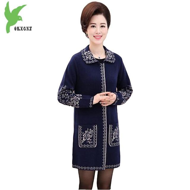 Hiver Femmes De Nouveau En Imprimer Tricot Mode Manteau Pull Automne 7qES0Sw5