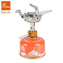 лучшая цена Fire Maple Gas Stove One-Piece Foldable Rocket Stoves Gas-Burner Stainless Steel Camping Equipment Backpack Gas Burners FMS-126