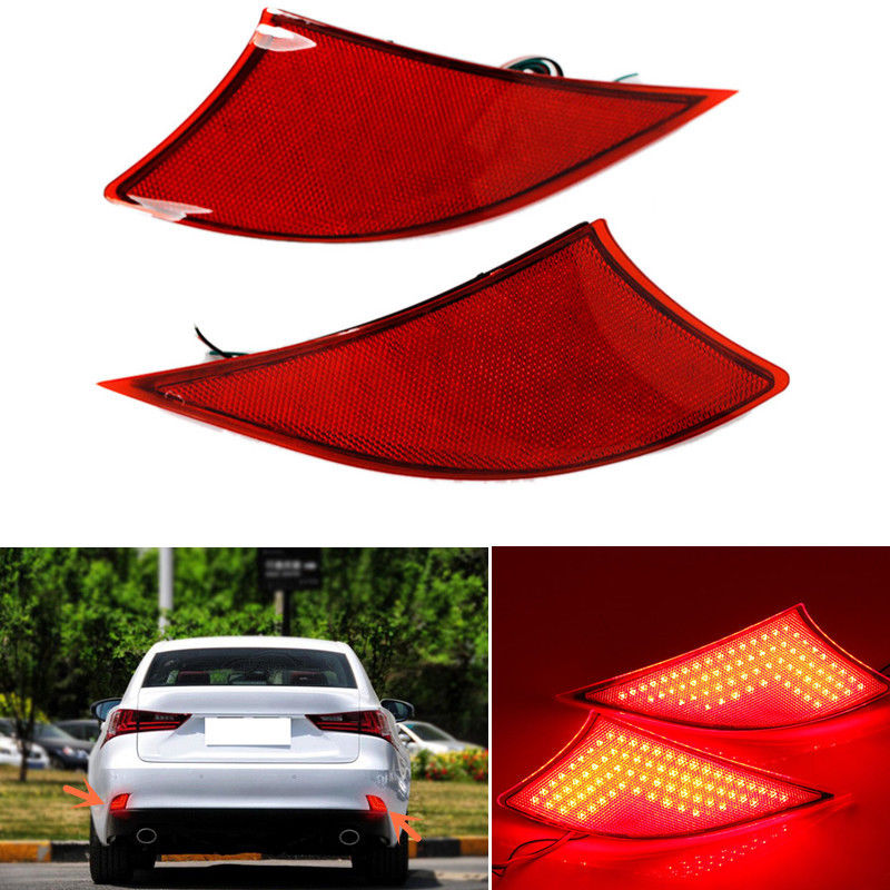High Brightness For Lexus IS 2013 Car Accessories LED Rear Bumper Reflector Light Car Parking Warning Light Led Tail Light car rear trunk security shield cargo cover for volkswagen vw tiguan 2016 2017 2018 high qualit black beige auto accessories