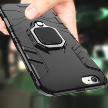 Shockproof Armor Case For iPhone X XS Xs Max XR Case For iPhone 6 6S 7 8 Plus XS Finger Ring Holder Phone Cover kisscase shockproof armor cases for iphone 6 6s 7 8 plus xs case for iphone x 5 5s se xs xs max xr finger ring holder case funda